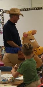 Mr. Fuller in Horse Costume