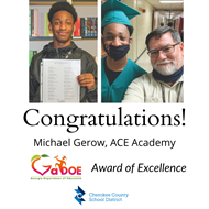 ACE Academy Award of Excellence winner 5 5 21