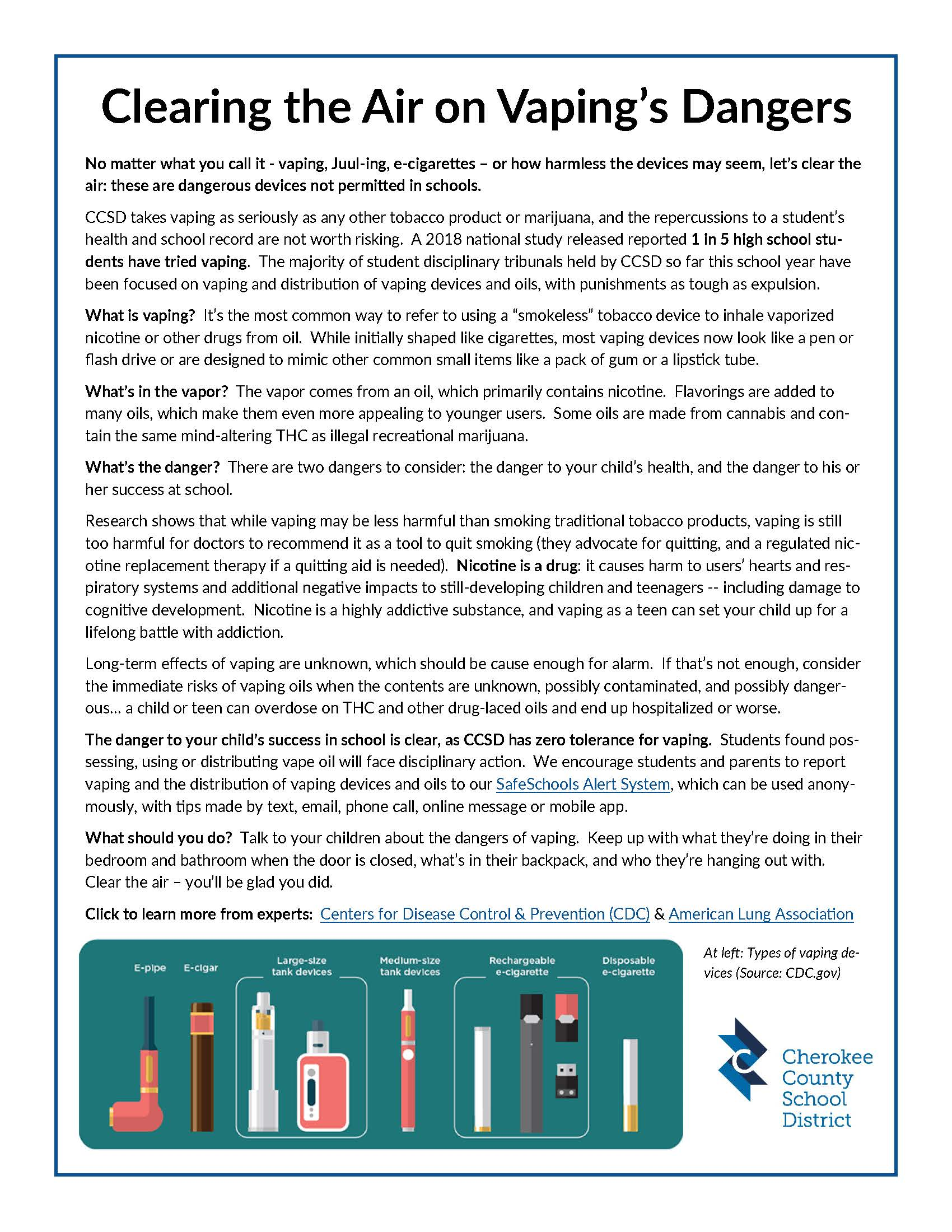 CCSD 2019 Factsheet - Vaping