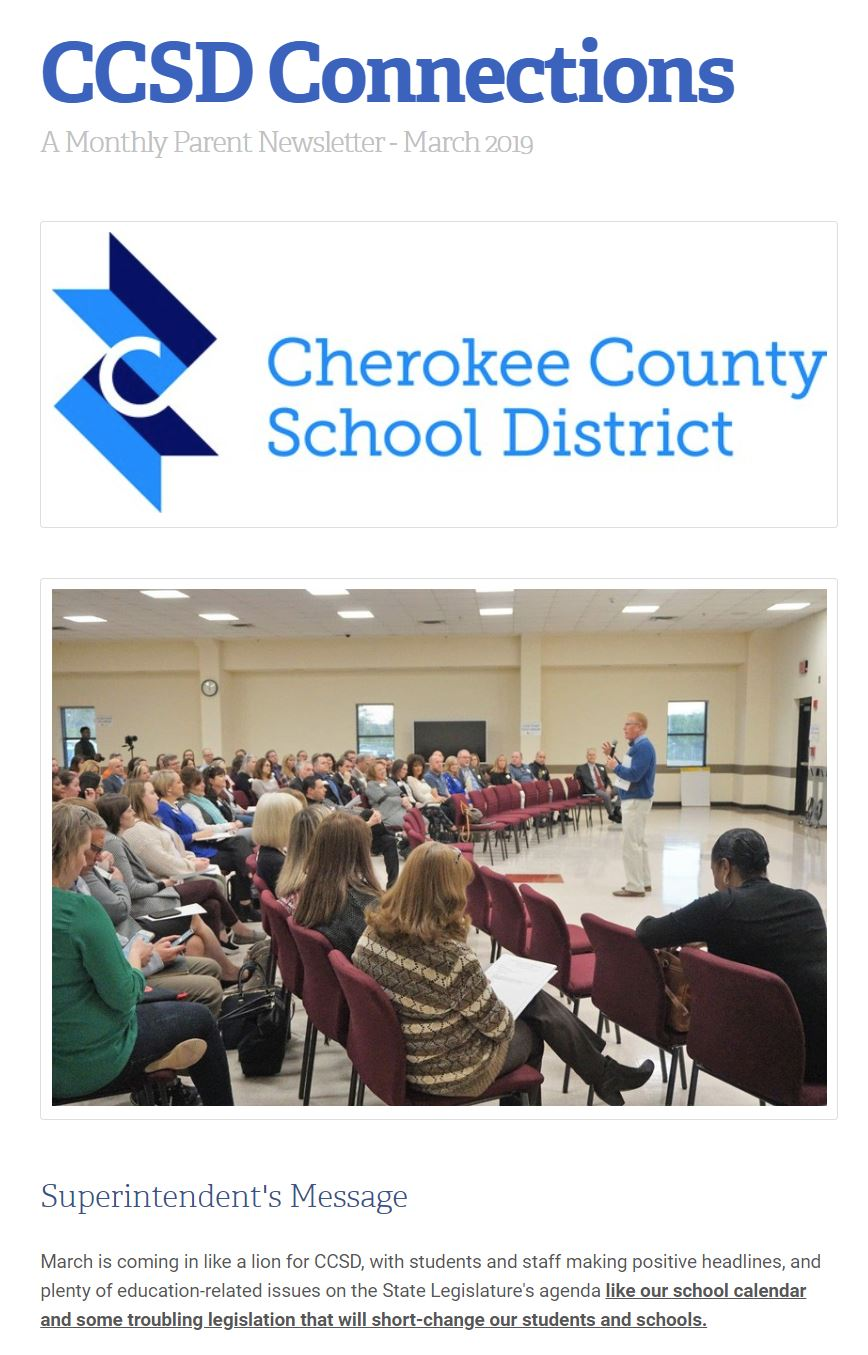 CCSD connections newsletter March image