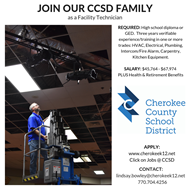 CCSD Facility Technician job ad 2019