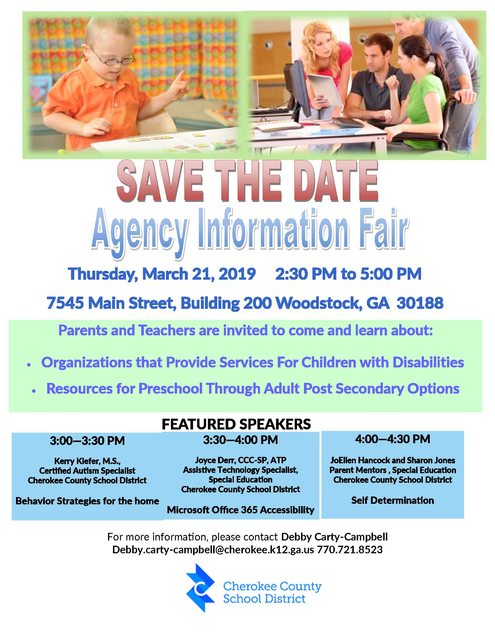 Agency Information Fair 2019 Flier image
