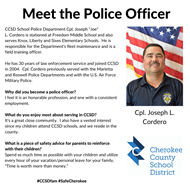 meet the officer Cordero 12 3 19