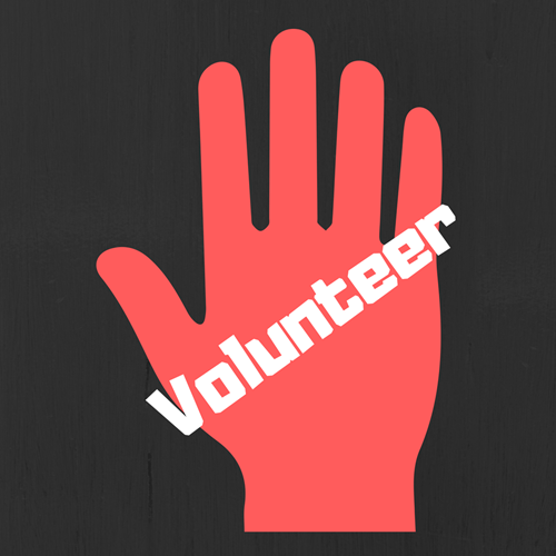 hand with volunteer