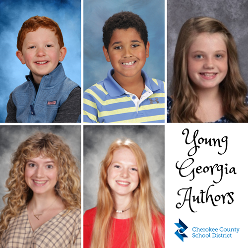 CCSD Young Georgia Authors Region Winners 3 26 21