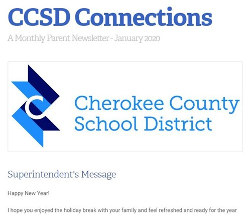 CCSD Connections newsletter image January 2020