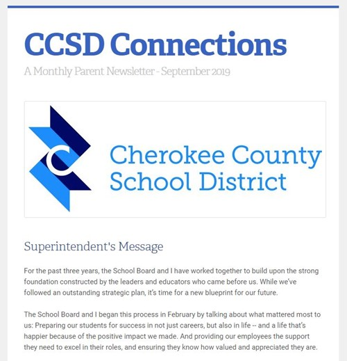 CCSD Connections September 2019 image snip