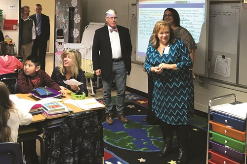 CCSD School Board Visits Johnston ES 1 1 17 19