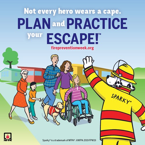 National Fire Prevention Week 2019 theme