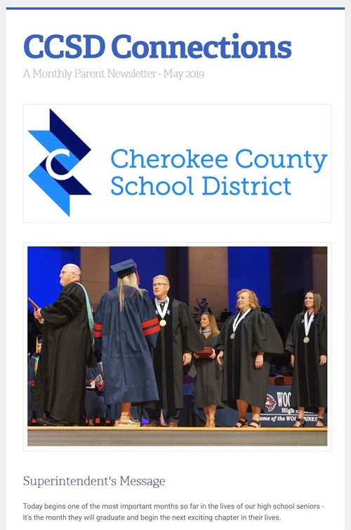 image of CCSD Connections May 2019 newsletter