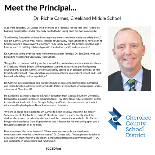 Meet the Principal - Richie Carnes - CMS 7 25 19