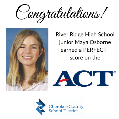 RRHS perfect ACT maya osborne 11 1 19