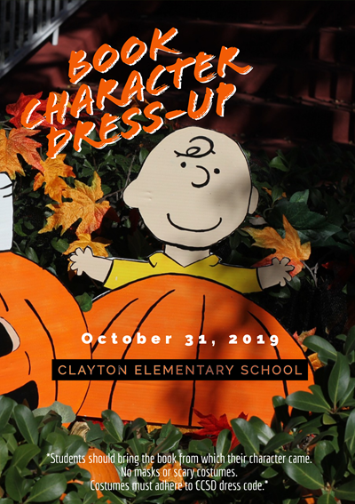Book Character Dress-up Announcement with Charlie Brown