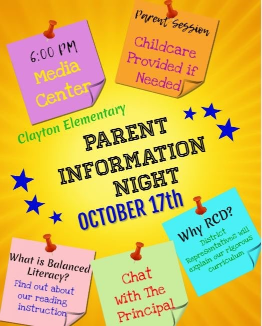 Parent Information Night Flyer
