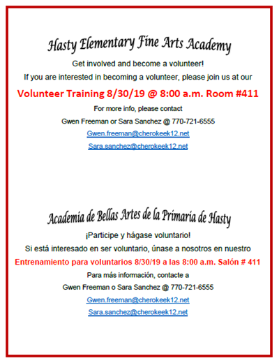 parent volunteer training