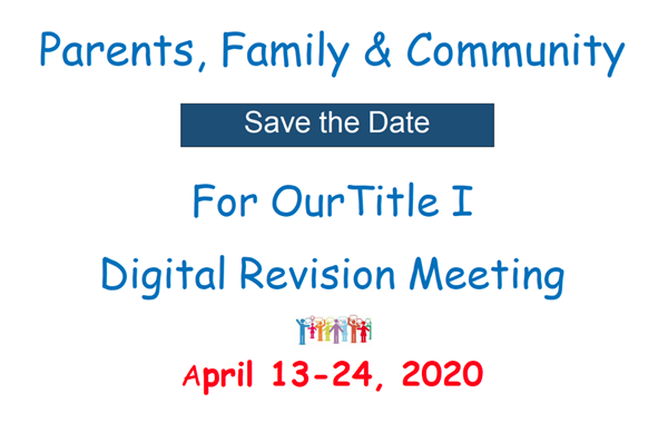 Title I Digital Revision Meeting English