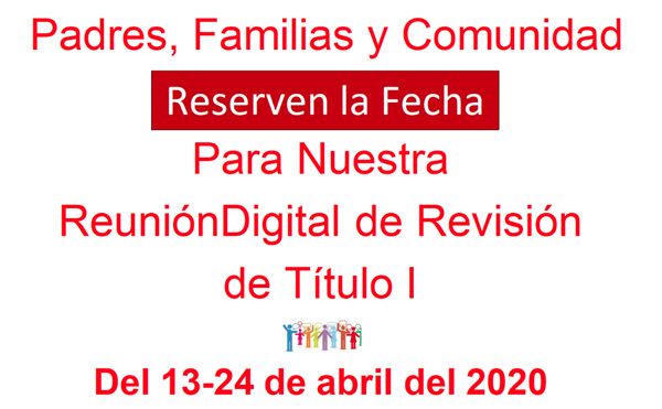 Title I digital revision meeting spanish