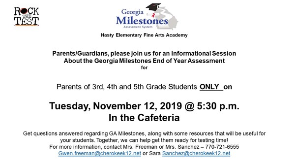 milestones parent meeting