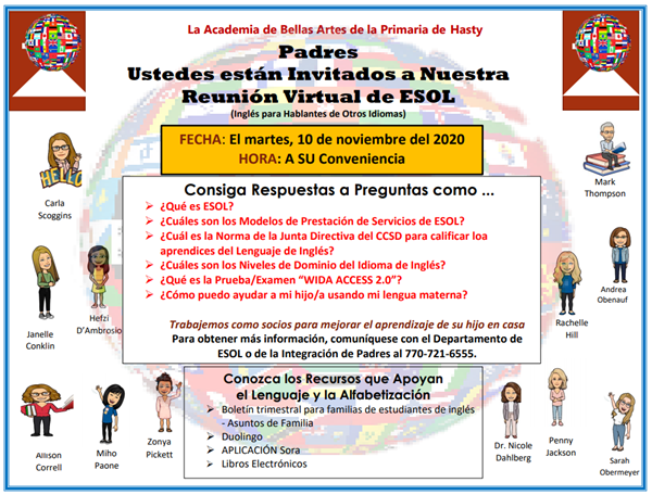 virtual esol parent meeting