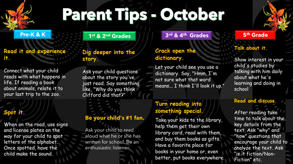 October Parent Tips