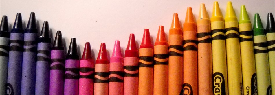 crayons in different colors