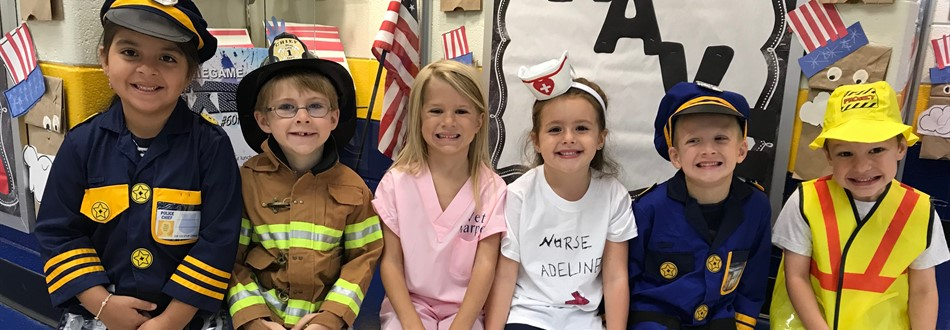 photo of students dressed as community helpers