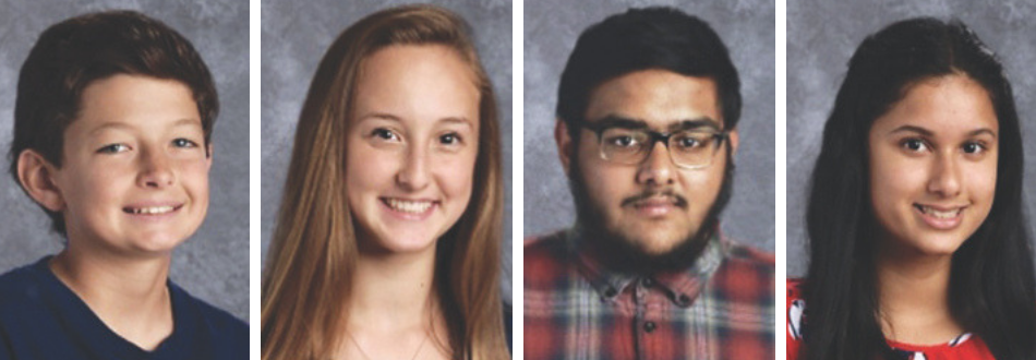 Photos of four students selected for State Superintendent's Student Advisory Council