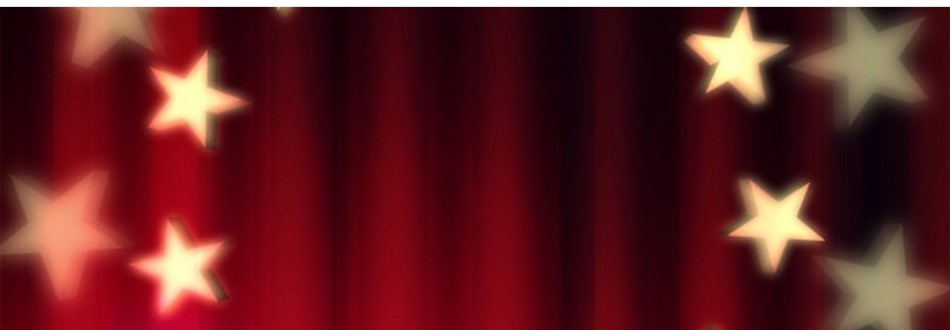 Photo of red curtain with stars