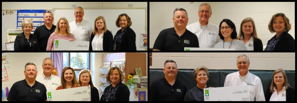 Amicalola EMC grant winners, personnel, and board members