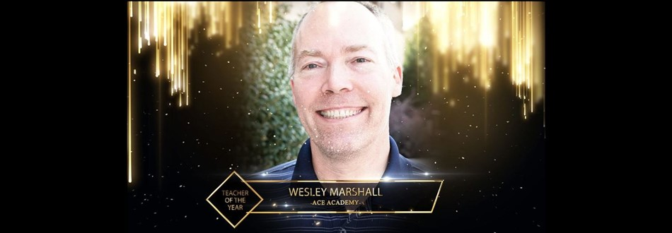 Teacher of the Year - Mr. Marshall