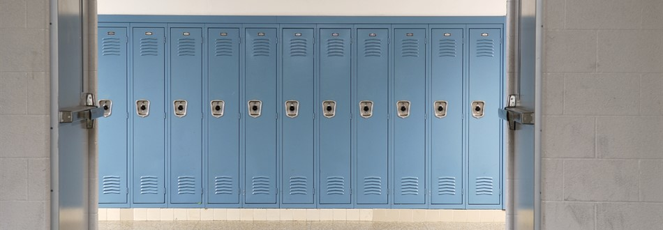 row of locker