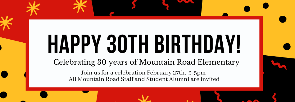 Happy 30th Birthday Mountain Road
