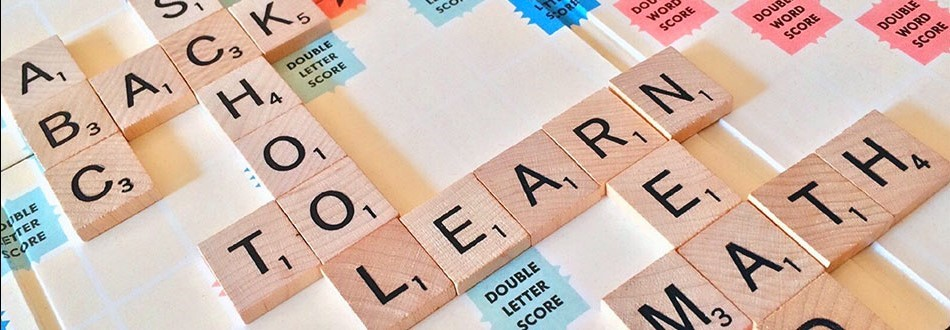 game board with school-to-learn spelled out