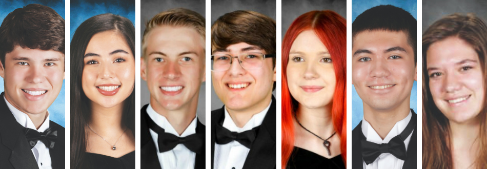 images of the seven recognized students