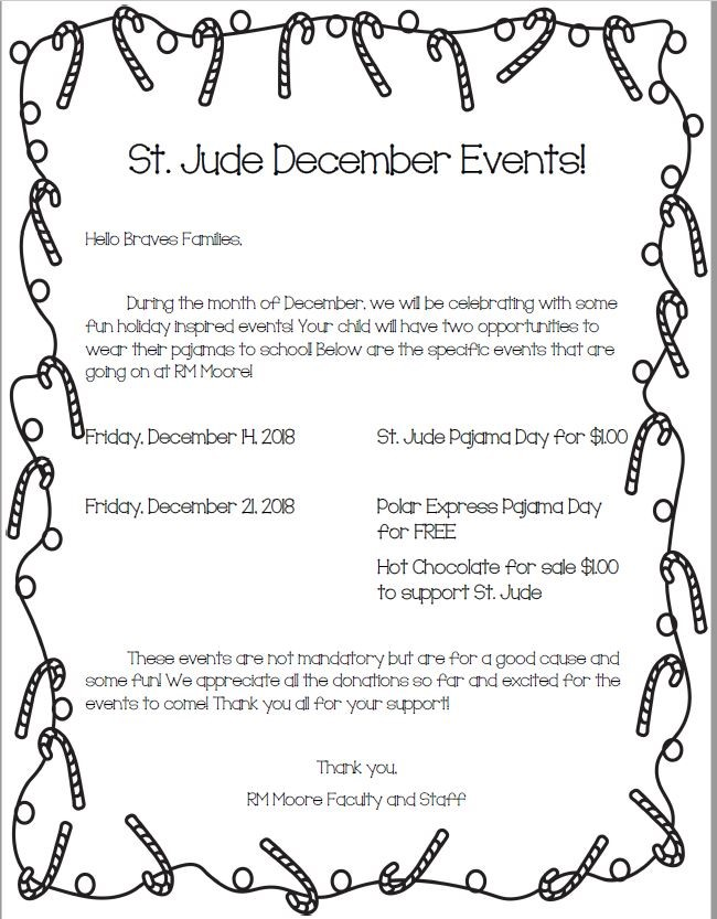 St Jude December Events