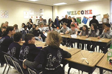 Students face off in competition at the annual CCSD Reading Bowl recently held at E.T. Booth Middle School.