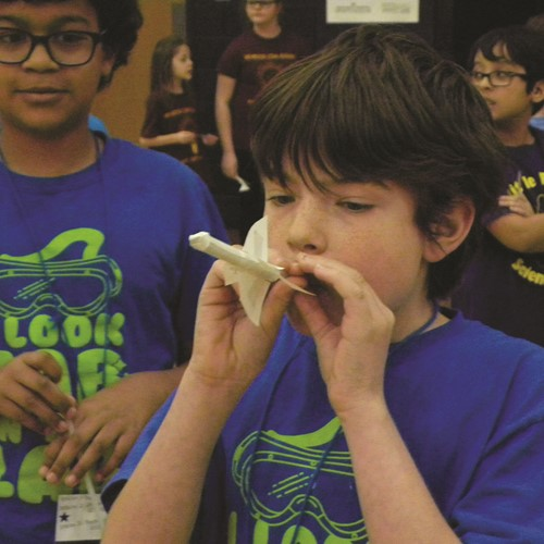 Avery ES fifth-grader Aiden Johnson competes at the event.