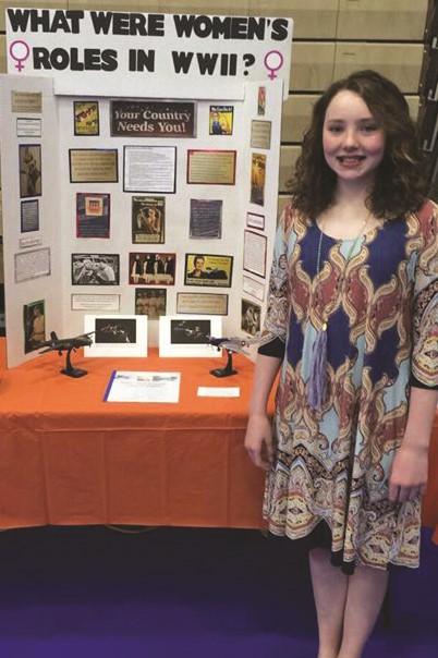 social studies fair winner Abigail Scott